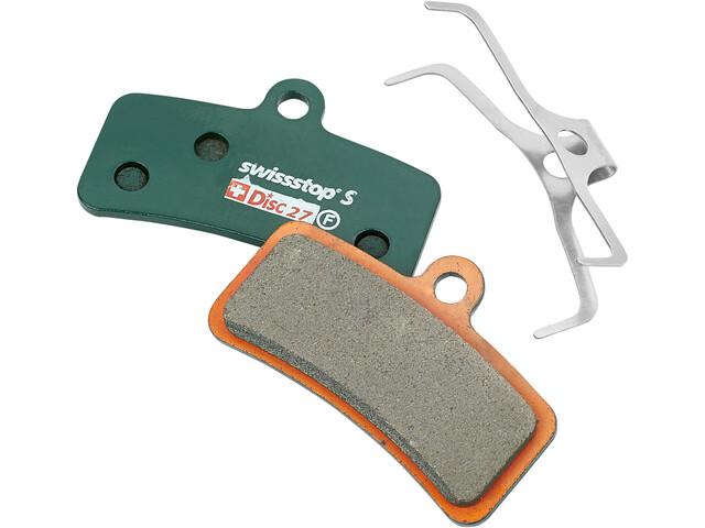 SwissStop Disc 27 Sintered Patins de frein Shimano Saint/Zee/TRP Quadiem SL, green